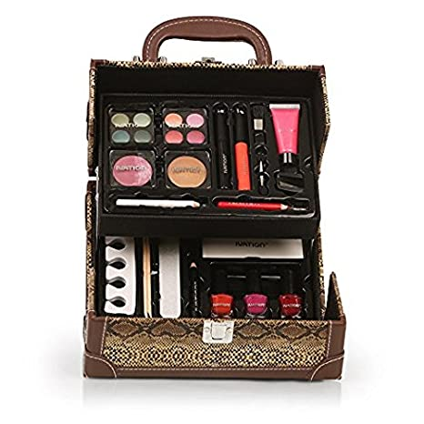 Ivation Professional Vanity Case Cosmetic Make Up Beauty Box Gift Set 57 Piece