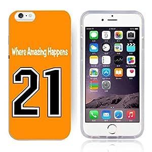 GXFC Case Unique Design Basketball Sportsman Uniform Where Amazing Happens 21 Pattern HD Durable Hard Plastic Case Cover for iphone 6(4.7 Inch)