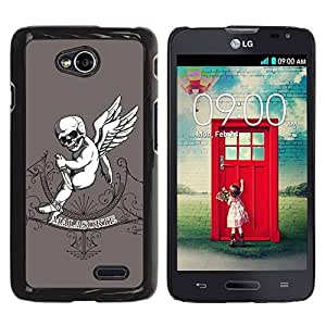 LASTONE PHONE CASE / Diseño de Delgado Duro PC / Aluminio Caso Carcasa Funda para LG Optimus L70 / LS620 / D325 / MS323 / Malasorte - Evil Goth Baby