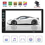 Mengen88 Car DVD Player, 7 Inch 2 DIN Autoradio Stereo Touch Screen Auto