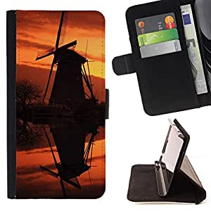 DEVIL CASE - FOR Samsung Galaxy S5 Mini, SM-G800 - Sunset Beautiful Nature 92 - Style PU Leather Case Wallet Flip Stand Flap Closure Cover
