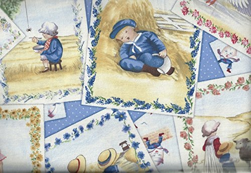 Nursery Rhymes postcards fabric Elizabeth (Nursery Rhyme Fabric)
