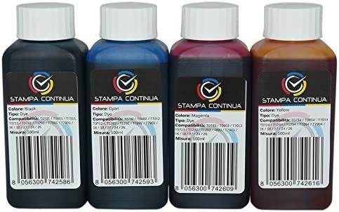 4x100ml tintas compatible con cartuchos Epson T29 para ...