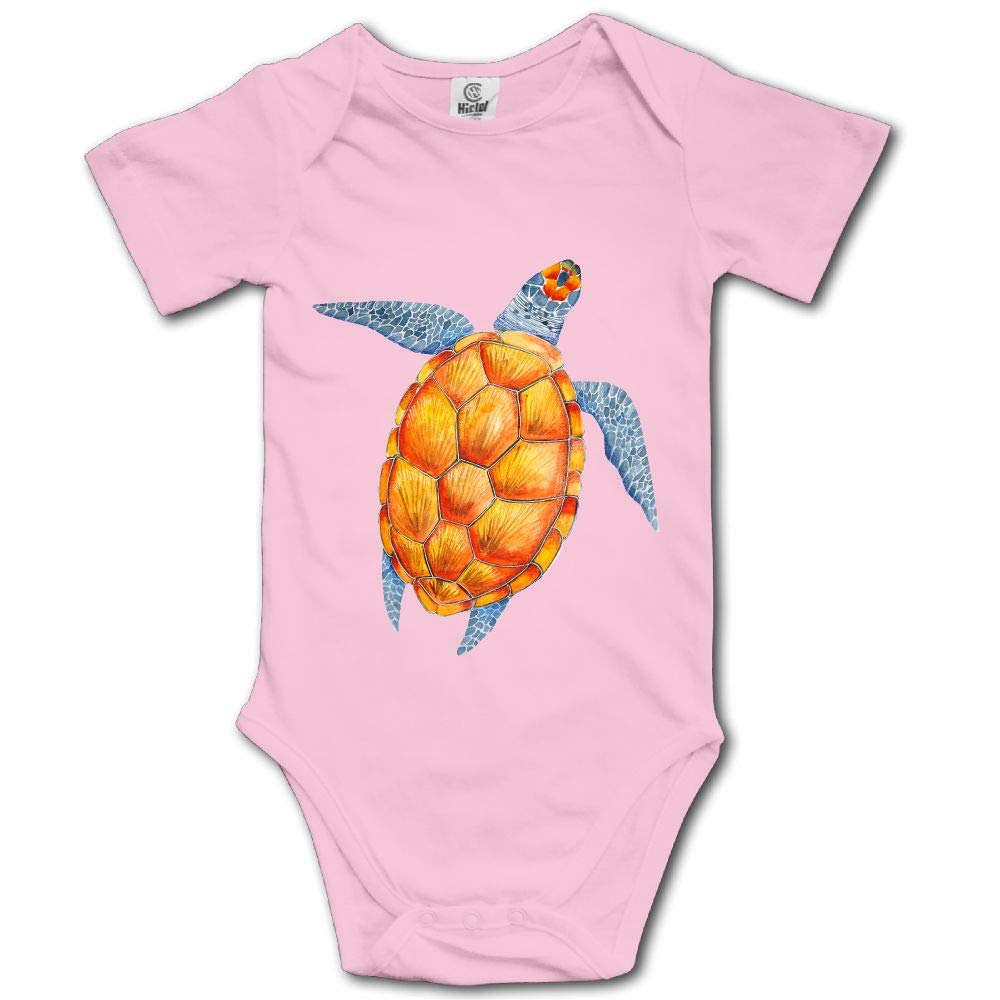 Watercolour Turtle Baby Short-Sleeve Onesies Bodysuit Baby Outfits