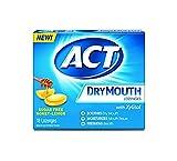 ACT Dry Mouth Honey Lemon Lozenges, 18 Lozenges Each (6)