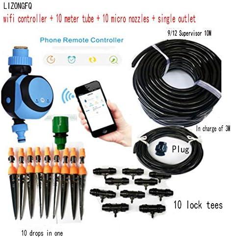 Dsqcai Garten-Handy-Controller-Set, Gartenwasser-Timer, Automatischer Controller-Bewässerungs-Timer, Intelligente Fernbewässerung des Hausgartens,1