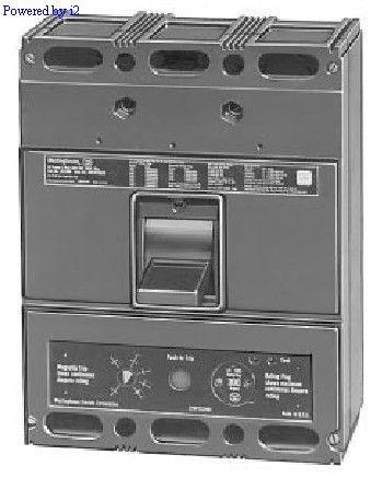 Westinghouse Seltronic LC3600F 600 Amp Circuit Breaker w 400A Plug Cutler-Hammer
