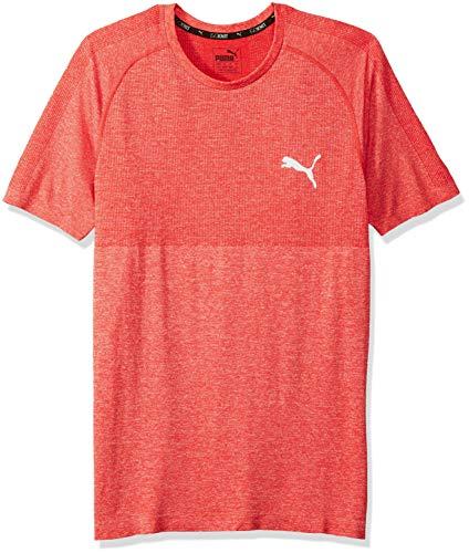 PUMA Men's Evoknit Better T-Shirt, Ribbon red XL