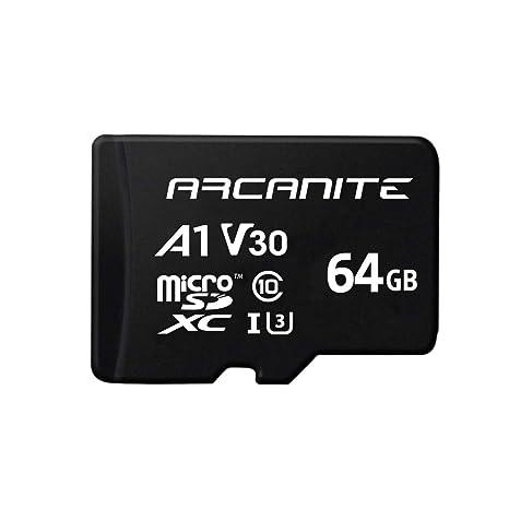 ARCANITE - Tarjeta de memoria microSDXC de 64 GB con adaptador SD ...