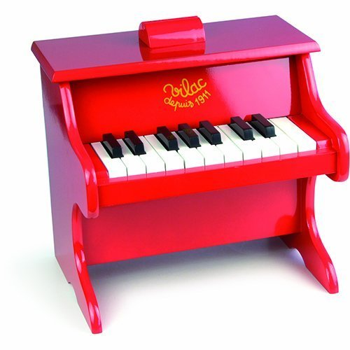 Vilac Baby Musical Toy Child Sized Piano, Red by Vilac