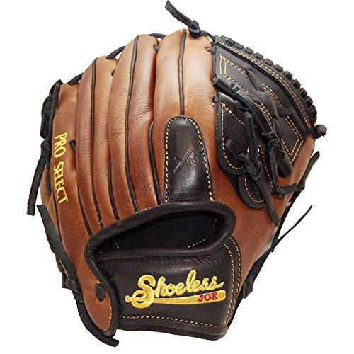 - Shoeless Joe Gloves 11 1/4-Inch Pro Select Closed Web Baseball Glove (Right Hand Throw)