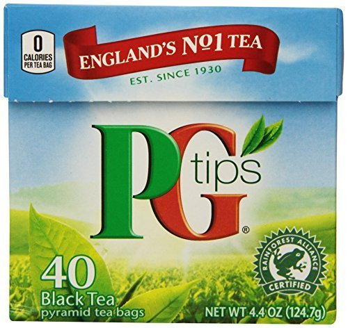 PG Tips Pyramid Bags, Black Tea 40 ct by PG Tips