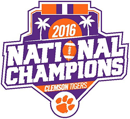 Logos Clemson University (Clemson Tigers 2016 Champions SD58694 LOGO Auto Home Window Flat Decal University)