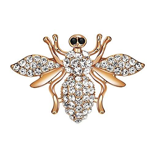 Colorido Creative Spider Shape Full Zircon Women Scarf Accessory Jewelry Brooch Pin Breastpin Gift ()