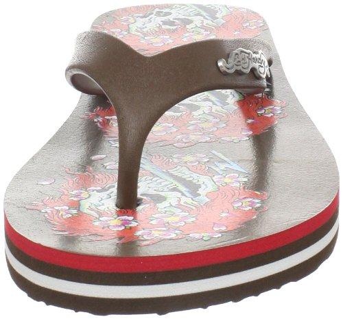 Ed Hardy Femmes Bc Gpa Flip Flop Sandale Marron-11sbc604w