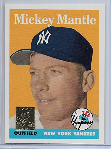 - 1996 Topps Baseball Mickey Mantle Chip Toppers 1958 Topps Reprint Card # 8
