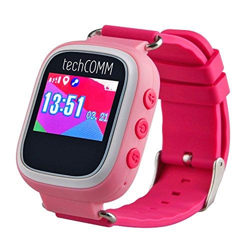 TechComm TD-03 Kids Smart Watch GPS Pedometer Geofencing Sleep Monitor (Text Card Discover Alerts)