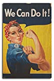 Lantern Press Rosie The Riveter - We Can Do It! - Vintage Propaganda (10x15 Wood Wall Sign, Wall Decor Ready to Hang)