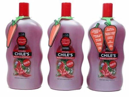 Amazon.com : 3 X Natturalabs Chili Rosemary Shampoo/Anticaida Chiles Romero & Espinosilla 33.8 oz by Naturralabs : Beauty