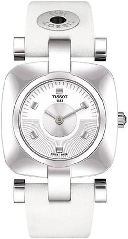 Tissot Odaci-T T0203091603101 - Reloj de Mujer de Cuarzo, Correa de Piel Color Blanco