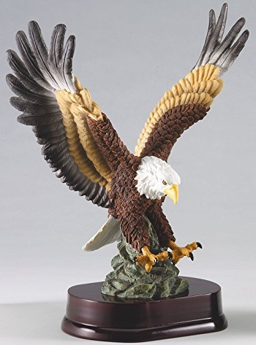 Etch Workz Customize Resin Casting Award - American Eagle GA129 Series Resin Trophy - Gold Plated - Engraved & Personalized Free