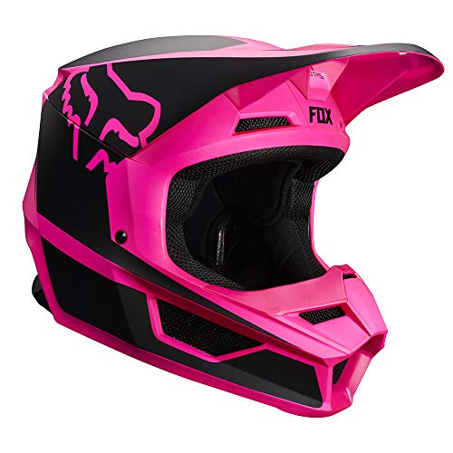 2019 Fox Racing V1 Przm Off-Road Motorcycle Helmet - Black/Pink / Medium