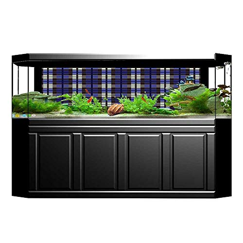 - Jiahong Pan Fish Tank Decorations Scottish Themed Kilt Skirt Squares Checkers Design HD Fish Tank Decorations Sticker L23.6 x H19.6