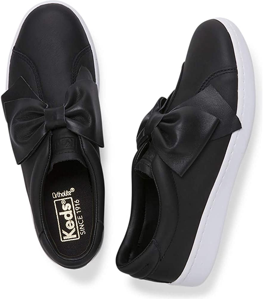 Keds Womens Ace Bow Leather Slip-On Shoes
