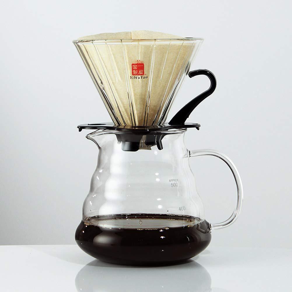Acquisto YJF Bicchiere versato sopra la caffettiera con 40 Carte Filtro Prezzi offerta