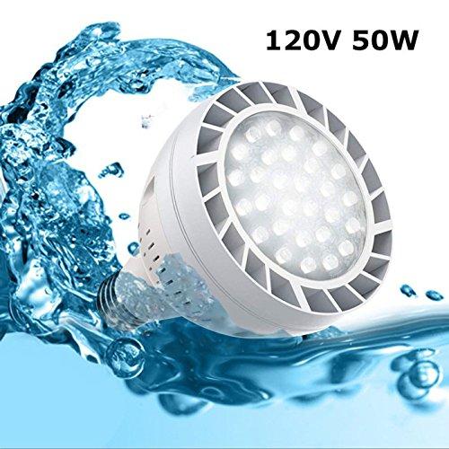 50Watt 120V 6500k Daylight White Light Swimming Pool LED Light Bulb LED PAR 30 Light E26 Screw Base 300-600w Traditional Bulb Replacement