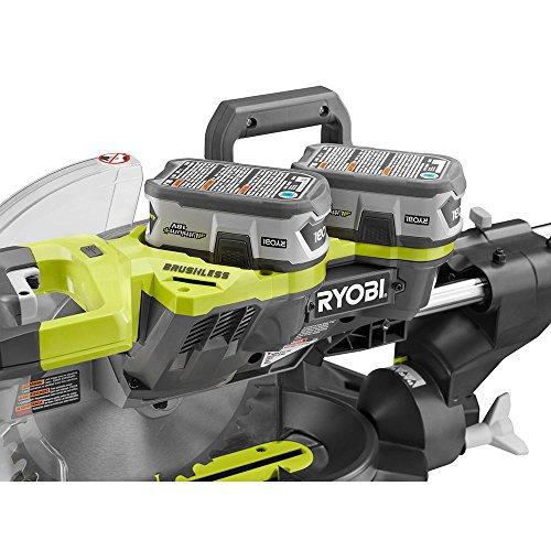 Ryobi P3650B ne+one 18-volt 10 In. Cordless Brushless Bevel Sliding Miter Saw