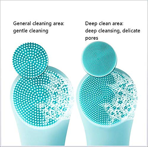 Electric Silicone Facial Deep Cleansing Brush Face Massager Pore Cleaning Relieve Facial Skin Problems IPX7 Level Waterproof by RSTJPG (Image #2)