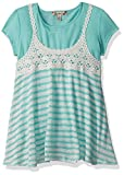 Product review for Speechless Big Girls' 2 Piece Crochet Striped Knit Tank Top with Tee