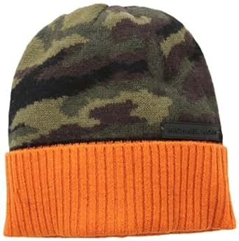 Michael Kors Men's Camo Skull Cap, Orange, One Size