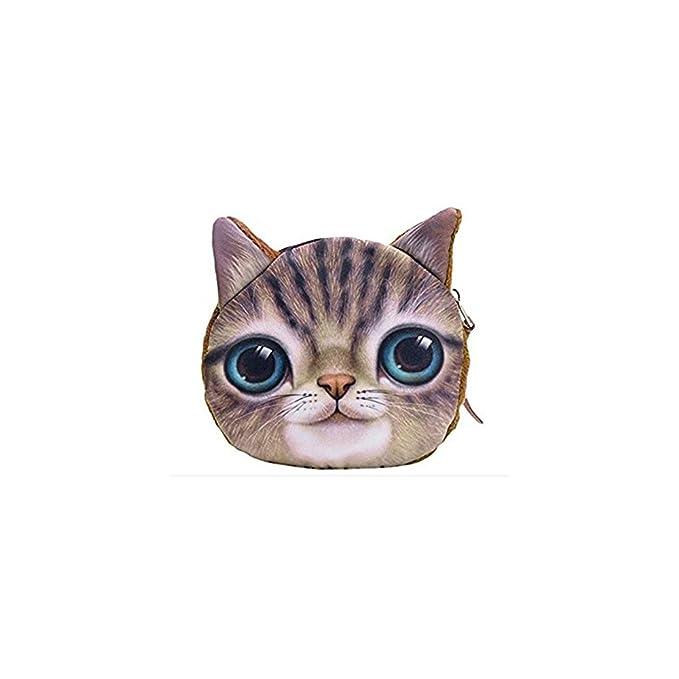 New diseño de gato Kitty Pussy Tamaño pequeño tipo libro de con cremallera monedero para maquillaje funda de piel con tapa: Amazon.es: Ropa y accesorios