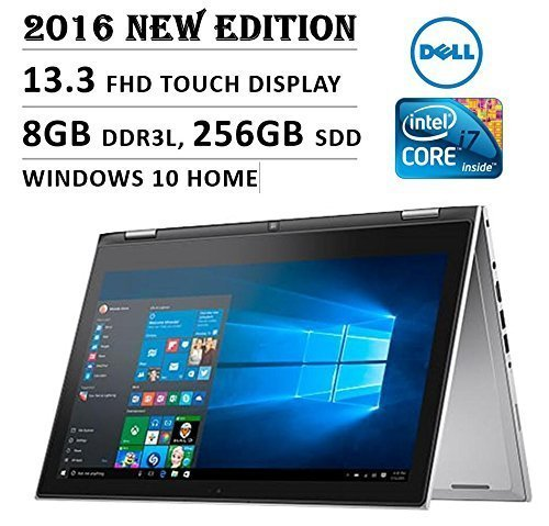 Price comparison product image Dell Inspiron 7000 13.3-Inch Touchscreen Laptop (Intel Core i7, 8GB, 256GB SSD, No DVD, Backlit Keyboard, Stylus, Bluetooth, Windows 10) - Silver
