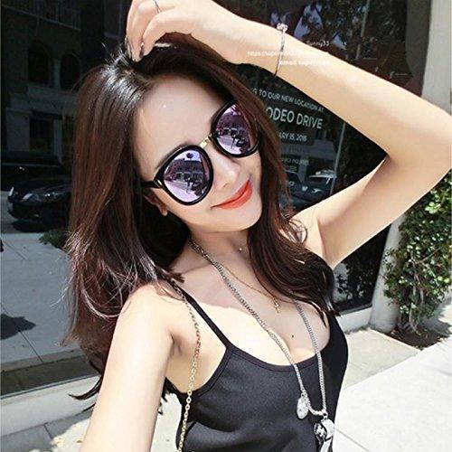 note miopía Astigmatism gafas de sol negra con redondas de rosadas VVIIYJ de Gafas sol myopia Gafas polarizadas caja Ice Blue pS1Swq