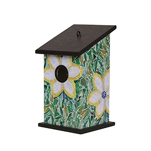- Studio M Summer Garden Outdoor Decor Birdhouse (Flower Mosaic)