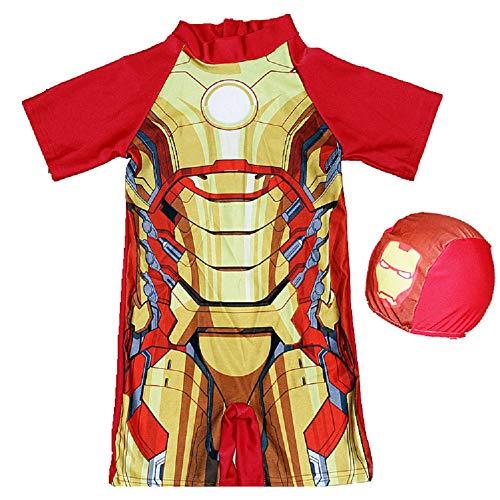 Spiderman Swimsuit,One Piece Bathing Suit Batman Swimming Boys Captain America Kids Sport Baby Beachwear ()