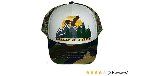 f5193067a281d Toddler Kid's Wild & Free Mesh Trucker Snapback Hat Cap Camouflage Camo