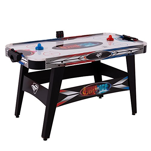 "Triumph Fire 'n Ice LED Light-Up 54"" Air Hockey Table Includes 2 LED Hockey Pushers and LED Puck ()"