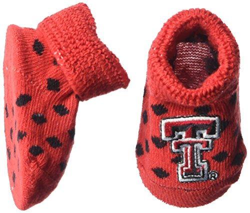 (Two Feet Ahead NCAA Texas Tech Red Raiders Infant Polka Dot Gift Box Booties, New Born,)