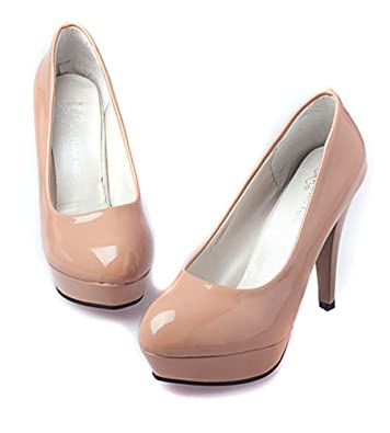 Womens JY Women's Classic Patent Leather High Heels Office Platform Pumps For Sales Size 37