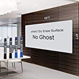 6x4 Whiteboard Film, White Board Adhesive Wallpaper, Large Dry Erase Wall Sticker 48 x 72 inches, Dry Erase Paper Roll for Table/Doors, 4 Markers, Super Sticky, No Ghost