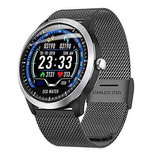 ECG + PPG Smart Watch Herren IP67 Wasserdichte Sportuhr Pulsmesser Blutdruck Smartwatch,Gray
