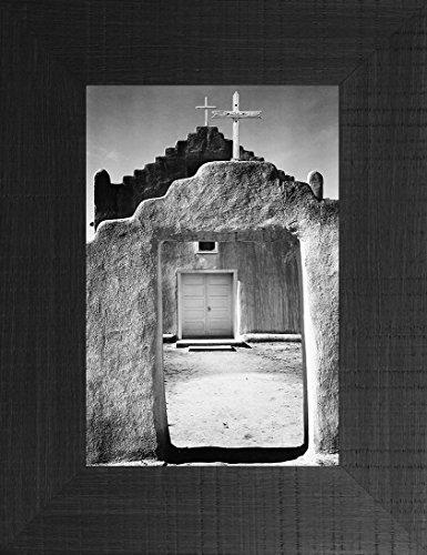 Taos Pueblo By Ansel Adams 26x20 Desert Cactus Cacti Grand Canyon National Park Arizona New Mexico California Nevada Bible Verse Adobe Building Framed Art Print Wall Décor Picture