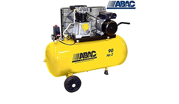Compressore aria, 90 lt ABAC B2800I/90 CM2 Red Line: Amazon.es ...