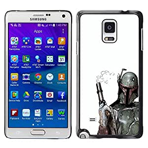 Stuss Case / Funda Carcasa protectora - Prueba clara Bobba Fett - Samsung Galaxy Note 4