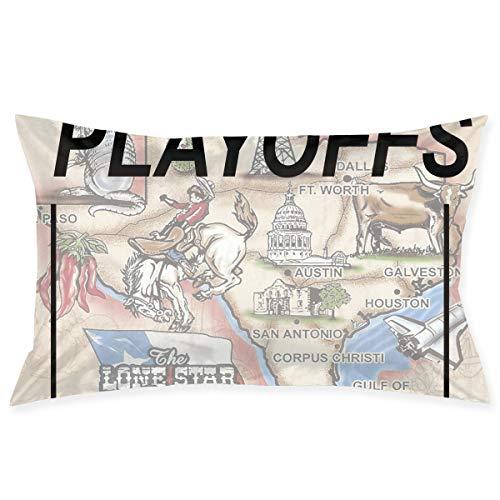 KKIaleph Printed Pillowcase, 2017 Playoffs Houston Texas Slogan 2017 Decorative Standard Queen Size 30 X 20 -