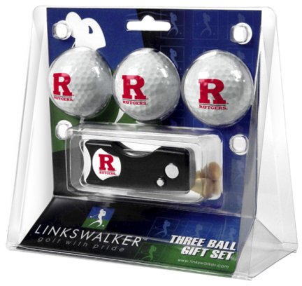 Rutgers Scarlet Knights NCAA Spring Action 3 Golf Ball Gift Packs ()
